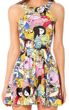 Black Milk Adventure Time Bro Ball Reversible Skater Dress