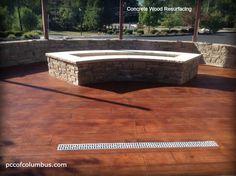 Concrete Resurfacing Columbus OH - Rustic Concrete Wood Concrete Wood, Stained Concrete, Concrete Floors, Broken Concrete, Decorative Concrete, Slate Flooring, Concrete Resurfacing, Concrete Coatings, Insulated Concrete Forms