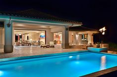 Pool at Night - tropical - pool - hawaii - Architectural Design & Construction