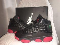 6691bad8edf826 Nike Air Jordan 13 Retro BG 414574 033 Boys Black  Red Size 4.5 Y Kids