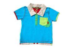 Sophie Catalou Baby Boy Infant Turquoise Color Block Polo Size:12M MSRP:$40 #SophieCatalou #Everyday