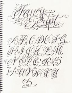 Tattoo Lettering Alphabet, Tattoo Lettering Design, Tattoo Fonts Cursive, Chicano Lettering, Lettering Guide, Graffiti Lettering Fonts, Hand Lettering Fonts, Tattoo Script, Graffiti Alphabet