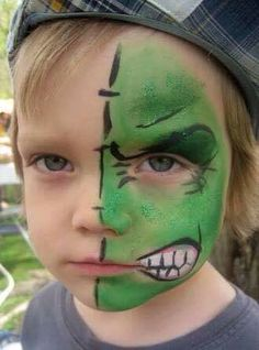 Ok, playing catch-up. Did a cool little hulk on a bright May morning. Hulk Face Painting, Superhero Face Painting, Face Painting Images, Animal Face Paintings, Face Painting For Boys, Face Painting Designs, Face Painting Tutorials, Halloween Makeup, Halloween Face
