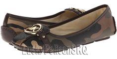 Michael Kors Fulton Duffle Camo Print Saffiano Leather Flat Shoes 7 M NWB #MichaelKors #BalletFlats