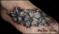 Frangipanis!!! by Red Dog Tattoo, via Flickr