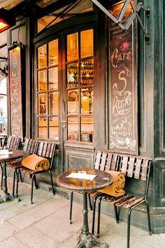 Cafe St. Regis in Paris, France