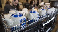 Death Star Canteen - R2-D2 teapots atop the espresso machine.