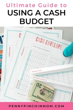 Whether you are getting out of debt or not, you can probably use some help in making sure you control your spending. Contrary to what many people say, the best way to do this is to use cash. Budgeting Finances, Budgeting Tips, Cash Envelope System, Money Problems, Budgeting Worksheets, Budget Template, Budget Planner, Money Management, People