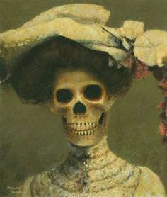 "kellywren:    ""Edwina The Edwardian Skeleton Lady"" by Michael Thomas"