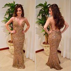 Fabulous Agilità vestido dourado