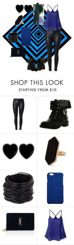"""""""Black and Blue"""" by sparklequeen101 ❤ liked on Polyvore featuring Refresh, Dollydagger, Jaeger, Saachi, Dolce&Gabbana and Yves Saint Laurent"""