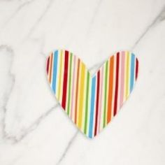 "With a playful ""pick me up"" pattern in a charming color-pop palette, the iconic Striped Heart Big Attachment offers lasting sentiment for the one you love. Simply Velcro® to a Happy Everything Big Platter (our Original size) or any other Big Base to create a heart-felt occasion."