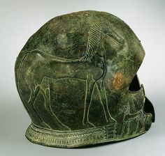 Archaic Greek Bronze Helmet, late 7th century BC