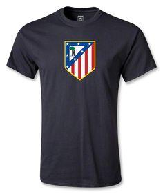 Atletico Madrid Crest T-Shirt (Black) - WorldSoccerShop.com
