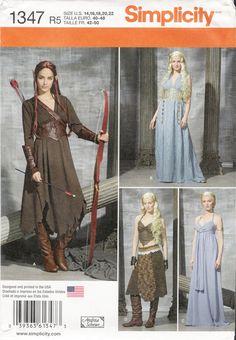 Simplicity 1347 Misses' Fantasy Costumes
