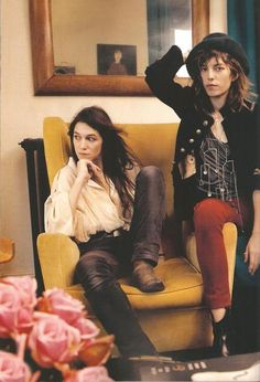 Charlotte Gainsbourg & Lou Doillon #style #fashion #french