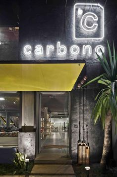 View full picture gallery of Carbono Gym Interior, Studio Interior, Fitness Design, Gym Design, Brand Design, Exterior Signage, Exterior Design, Cafe Restaurant, Restaurant Design