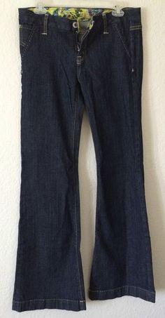 Miss Me Jeans Stretch Flare Size 30 Waist 34 1/2 Inseam Indigo  #MissMe #Flare