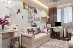 Дизайн спального места для девочки в детской комнате