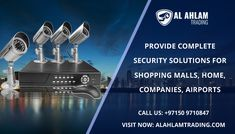 Alahlam Trading give Security frameworks like CCTV surveillance camera, remote IP camera, and Access Control in Dubai. We give finish security answers for shopping centers, home, organizations, airplane terminals and so on. We can help you in planning the correct security framework and choosing the correct security framework device for every one of your needs.  Call Now: +97150 9710847 Visit Now: www.alahlamtrading.com