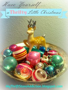 My Thrift Store Addiction : Creating Christmas: Have Yourself a Thrifty Little Christmas! #ThriftyInspiration #LinkUp