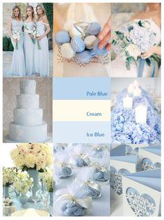 Baby Blue Wedding Theme, April Wedding Colors, Wedding Themes, Wedding Decorations, Periwinkle Wedding, Wedding Ideas, Ice Blue Weddings, Spring Wedding, Dream Wedding