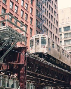 """Chicago El #Train Photography, via #Etsy - Brooke takes the El to work every day (and to  """"Demon Central"""" on weekends)."""