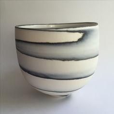 Thrown porcelain agateware