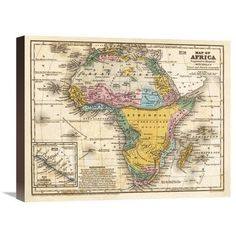 Global Gallery Map of Africa, 1839 by Samuel Augustus Mitchell Graphic Art on Wrapped Canvas Size: