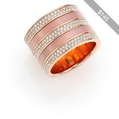 Michael Kors Jeweled Blush Barrel Ring