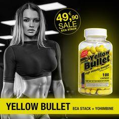 Yellow Bullet Delta Health ECA ECA STACK mit Yohimbin mit 25 mg Ephedra und 300 mg Coffein pro Kapsel. 100 Kapseln: Yellow Bullet Delta Health ECA Stack Workout, Bullet, Yellow, Health, Low Fiber Foods, Fatty Acid Metabolism, Health Care, Work Out, Salud