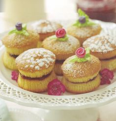 Mini Sponge Cakes from the book: Bake Me I'm Yours, Sweet Bitesize Bakes