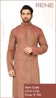 #Exclusive #EthnicWear #Design #Traditional #Trendy #Kurta #Men #Brown #Ootd #Outfit #Fashion #Style #ReneIndia #Brand available on #Flipkart #Snapdeal #paytm