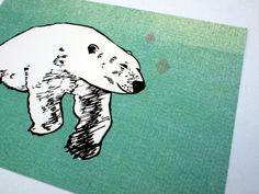 3 Postkarten Polarbär 100% ECO von SiebenMorgen auf Etsy