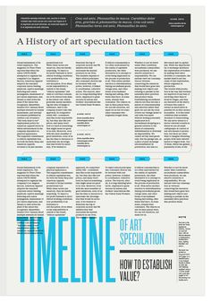 12 Column Grid Newspaper Layout {love the overlapping timeline type} // Kelli Anderson