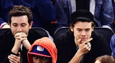 Harry & Jeff attend a New York Rangers game, April 16, 2017