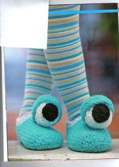 Pantuflas ojos