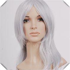2015 New Sexy  Cosume Wig  Women 60-65cm Long Wavy Synthetic Hair Lady Party Wigs White