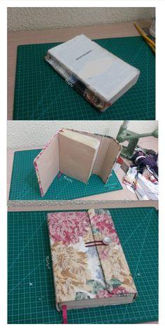 Bíblia Restaurada com capa de papelão coberta com tecido