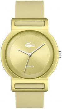 $146 Reloj mujer Tokyo Lacoste caja aluminio aluminio dorado correa silicona