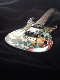 custom painted guitar