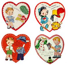 ALTERED ARTIFACTS: Mechanical and Vintage Paper Doll Valentines Free Printable