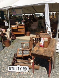 My booth at Brimfield Vignettes, Firewood, New England, Paradise, Antiques, Crafts, Woodburning, Manualidades, Antiquities