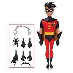DC Comics New Batman Animated Series Robin Action Figure - Radar Toys