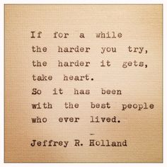 Jeffrey R Holland Quote Made on Typewriter and Framed by farmnflea, $13.00