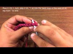 How to Crochet the Back Loop Single Crochet Stitch - YouTube