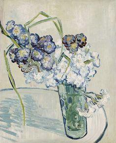 Стеклянная ваза с гвоздиками. Винсент Ван Гог  Частная коллекция 1890. 41.0 x 32.0 cm.