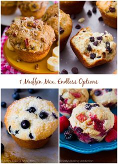 Sally's Master Muffin Batter - 1 mix, endless options to create bakery-style muffins at home! @Sally McWilliam [Sally's Baking Addiction]