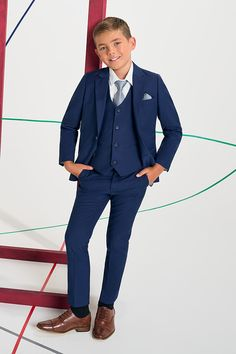 Shop boys navy suit Monaco at Roco. Boys wedding navy suit with free UK delivery & 30 day returns. Boys Navy Suit, Boys Suits, Navy Suits, Groom Suits, Groom Attire, Royal Blue Suit, Light Blue Suit, Boys Wedding Suits, Blue Suit Wedding