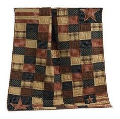 Patriotic Patch quilted throws are great for chilly nights and snuggling on the couch with the family. Easily place your online order today from Primitive Star Quilt Shop.